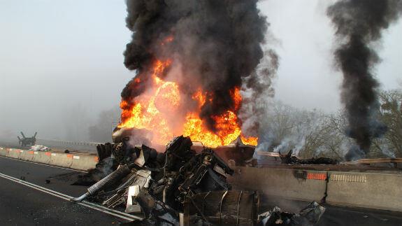 oil tanker truck accident